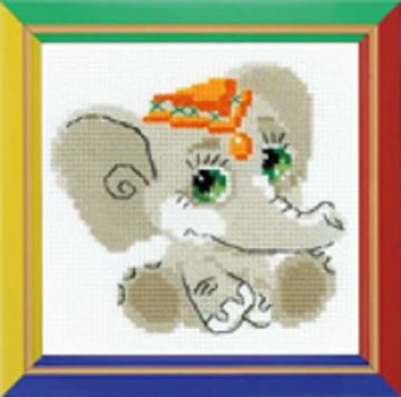 Riolis Cross Stitch Kit. ELEPHANT BABY.